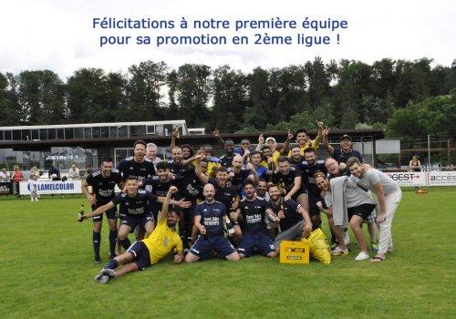 Promotion en 2ème ligue